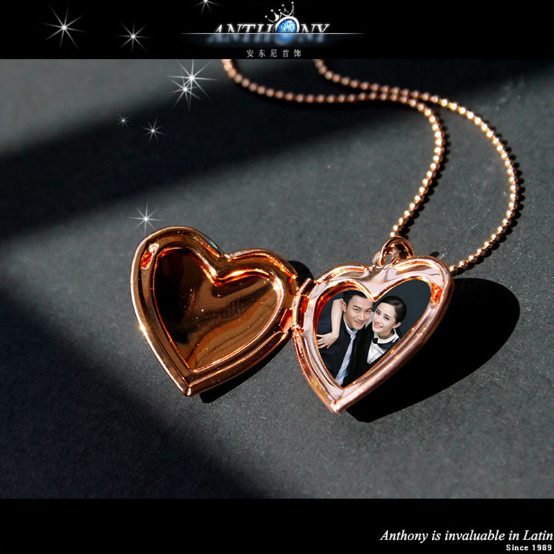 fashion jewelry 2 colors alloy heart pendant necklace for women can