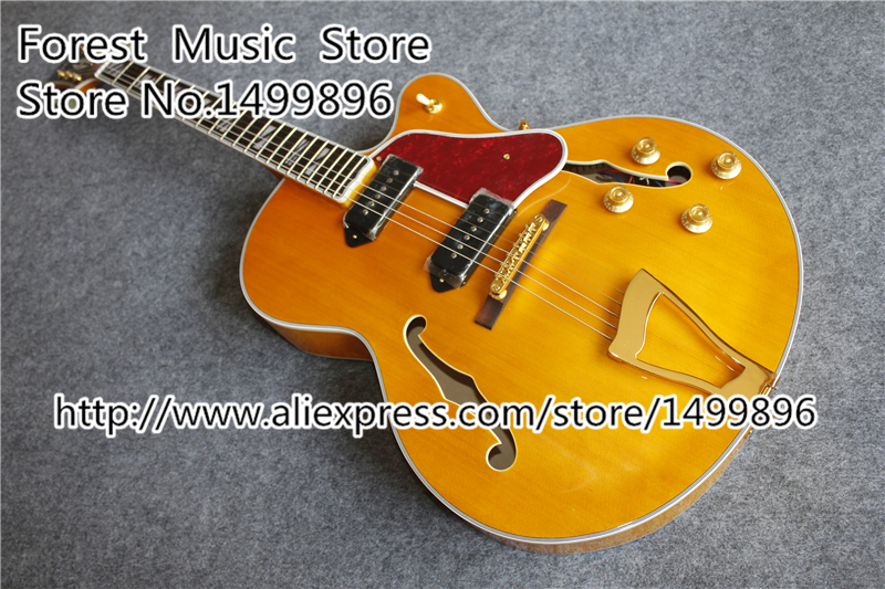 New Arrival L5 Electric Jazz Guitar Same As Pictures Hollow Maple Guitar Body Free Shipping free shipping 2017 new arrival high quality flame maple top g les standard brown electric guitar lp guitar