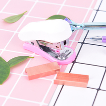 1000 шт./лот, розовое золото, скобы, 24/6 металлический степлер, для дома, школы, стационарный, для офиса