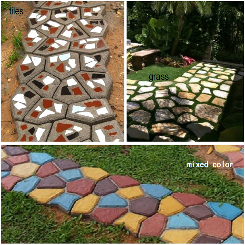 Aliexpress.com : Buy The Garden Stone Road Concrete Molds Pavement Mold DIY  Plastic Path Maker Mold Manually Paving Cement Brick Molds 50*50*4.4CMB  From ...
