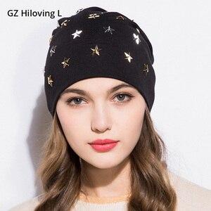 GZHilovingL 2018 Hot Sale Europeia Mulheres Slouchy Beanie Caps Verão Fino de Algodão Sólida Para Meninas Senhora Hip Hop Chapéus Skullies chapéu