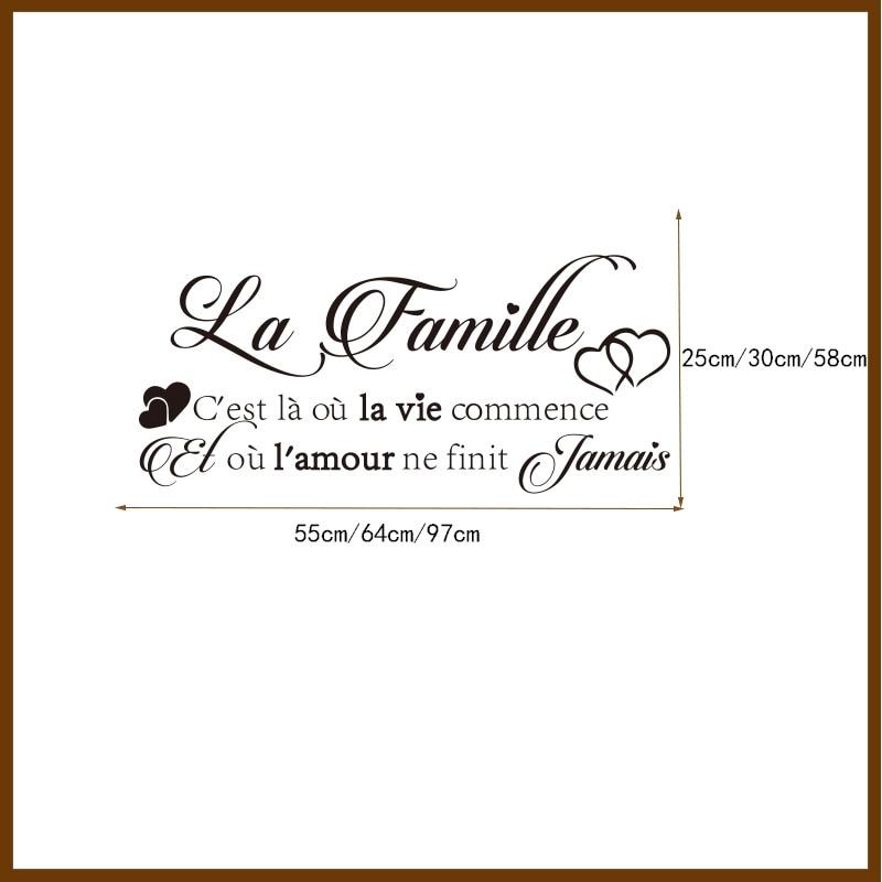 Vinyl αυτοκόλλητα τοίχου La-Famille - Διακόσμηση σπιτιού - Φωτογραφία 6