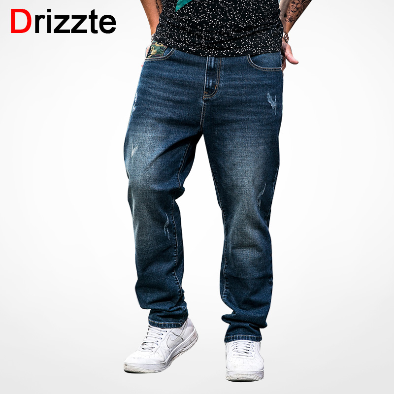 Drizzte Camouflage Jeans Men Plus Size 40 42 44 46 48 Fashion Stretch Denim Large Big and Tall Pants Trousers Jeans afs jeep 2017 fashion denim pants mens thin cropped trousers overalls jeans man loose jeans mans wear plus size 38 40 42 44