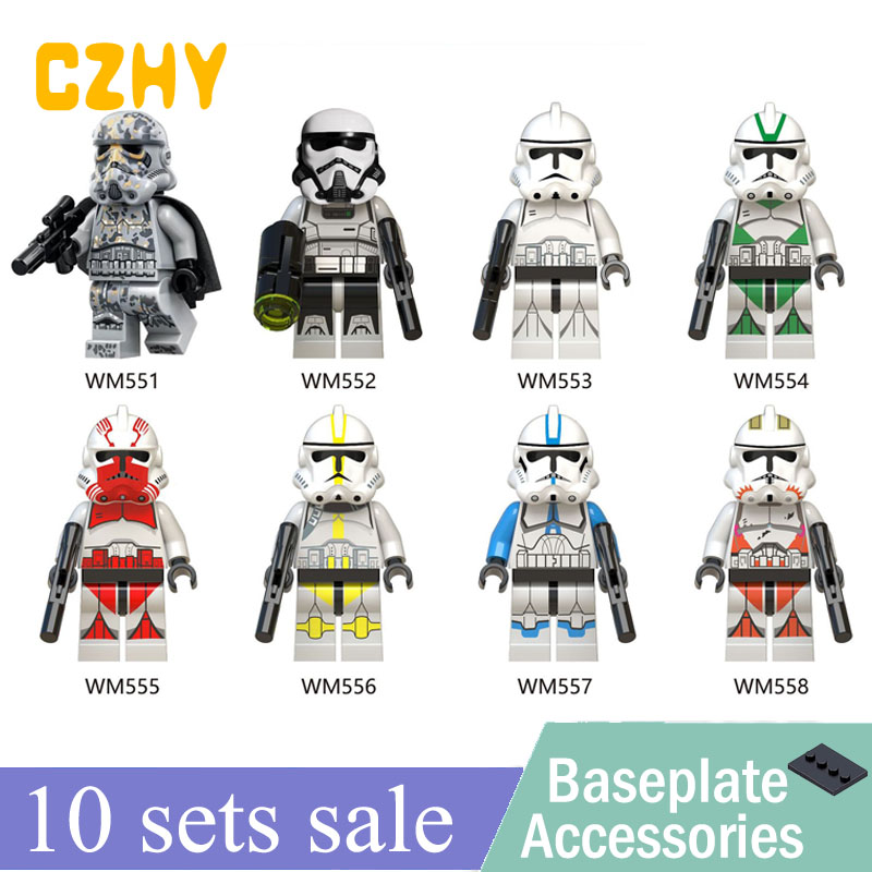 wholesale Imperial Redcoat Army Starwars Soldier Stormtrooper Snowtrooper Clone Trooper Building Blocks Toys Hot WM6036