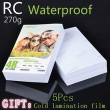 RC 30 листов 270 г глянцевая 4R 6 дюймов 4x6 фотобумага для бумага для струйных принтеров визуальные принадлежности бумага для печати цветной фотографии