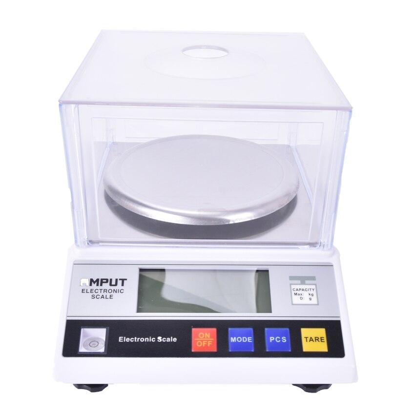 1 pièces précision laboratoire balance analytique 2000g x 0.01g bijoux diamant or banc de pesage balance de cuisine