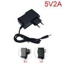 Gakaki AC to DC Power Adapter supply EU Plug 100V-240V Converter adapter DC 5V 2A 2000mA for LED Strip Light CCTV Camera