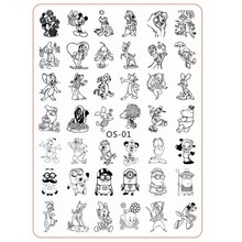 1Pcs XL Size 10*14cm Cartoon Nail Stamping Plates Stainless Steel Image Art Manicure Template Stamp Tools OS1