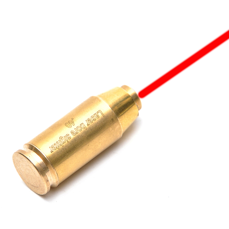 CAL.40 Cartuccia Red Dot Laser Foro Sighter Boresighter Red Avvistamento Sight Fucile Da Caccia di Rame Caza
