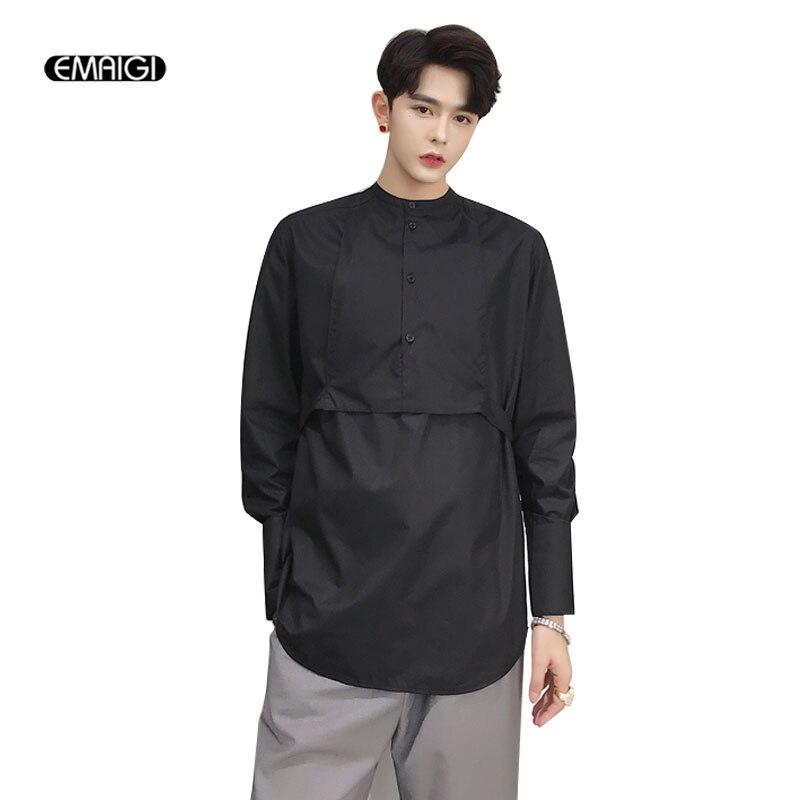 Camisa de manga larga informal a la moda de estilo gótico japonés para hombre-in Camisas casuales from Ropa de hombre on AliExpress - 11.11_Double 11_Singles' Day 1
