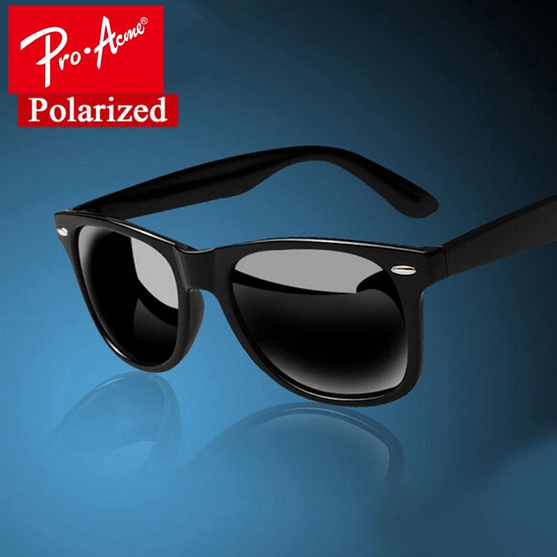 Pro Acme Fashion Classic Square Polarized Sunglasses Hombres Diseñador de la marca de revestimiento masculino Gafas de sol Gafas De Sol CC0338