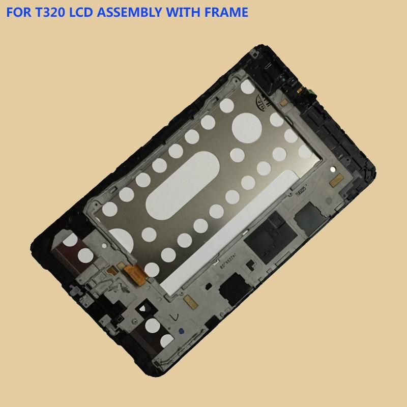 Pour Samsung Galaxy Tab Pro T320 SM-T320 Écran Tactile Capteur Digitizer Verre + LCD Panneau D'affichage Avec Cadre