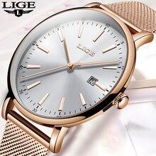 LIGE Women Watches Luxury Brand Mesh bel