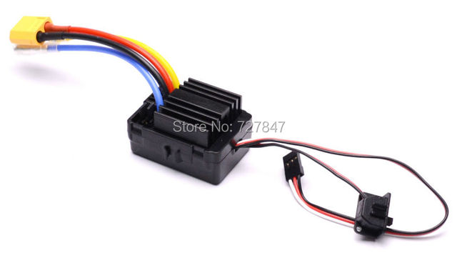 1040 60A Waterproof Brushed ESC Controller for Hobbywing Quicrun Rc Car Motor