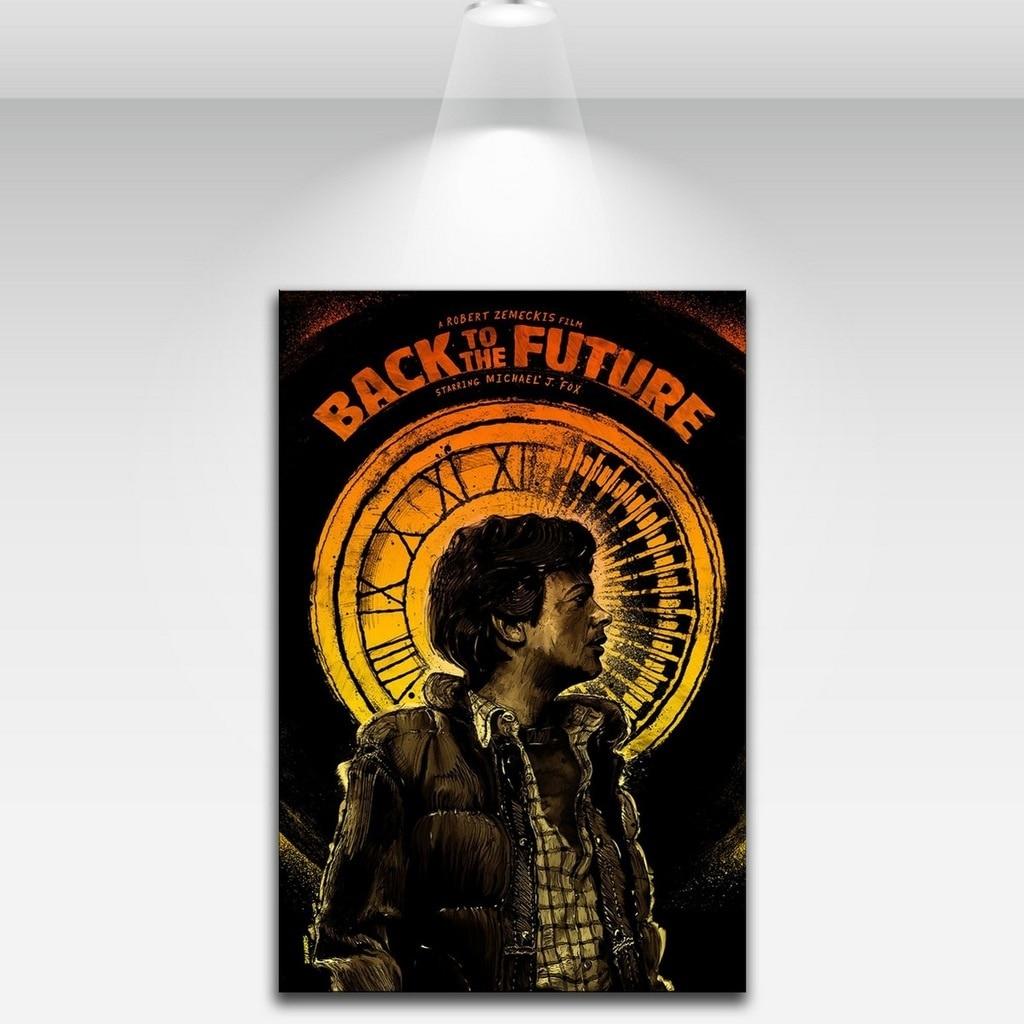 Art Canvas Print Poster Back To The Future Home Decor Print No Frame