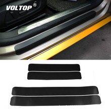 4 шт. 60x6,7 см автомобильные наклейки универсальные накладки на порог против царапин из углеродного волокна авто наклейки аксессуары для автомобиля