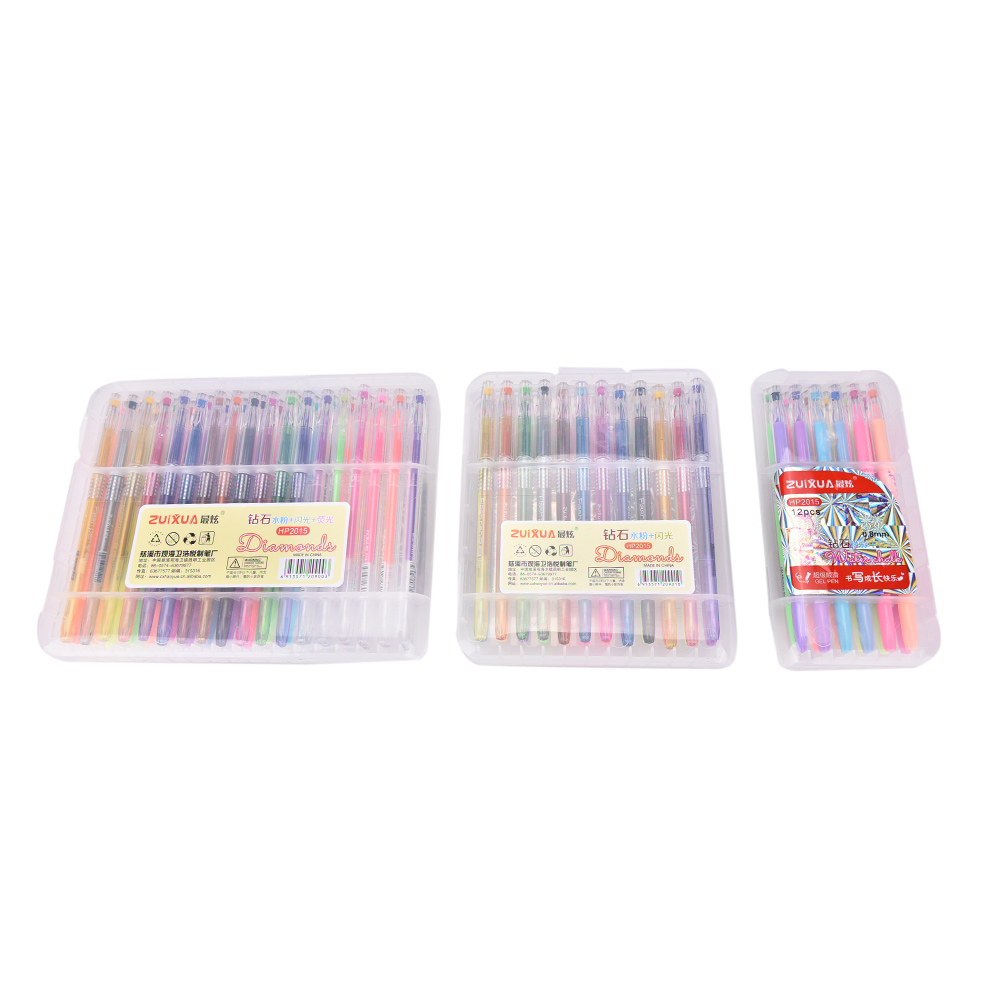 12/24/36PCS/Set Gel Pen Set Refills Metallic Pastel Neon Glitter Sketch Drawing Color Pen School Stationery Marker for Kid Gifts touchnew 60 colors artist dual head sketch markers for manga marker school drawing marker pen design supplies 5type