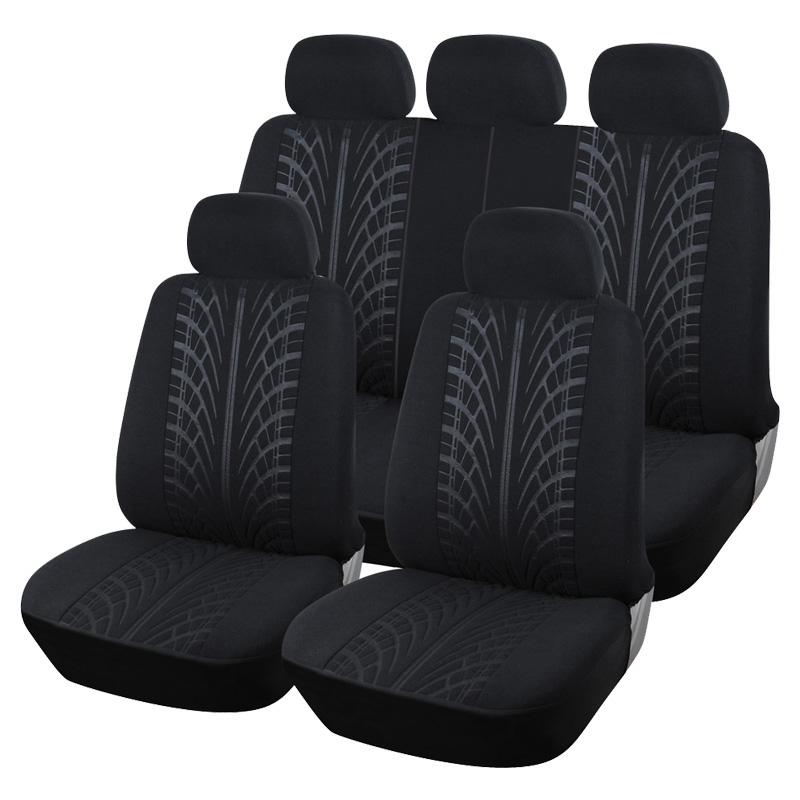 Luxury Car Seat Covers Full Seat Cover Set Fabric Universal Automobile Seat Protector Car Styling Interior