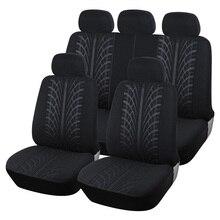 Роскошные Автокресло охватывает полный сиденья набор Ткани Универсальный Автомобильный протектор сиденья автомобиля укладки интерьер Аксессуары комплект