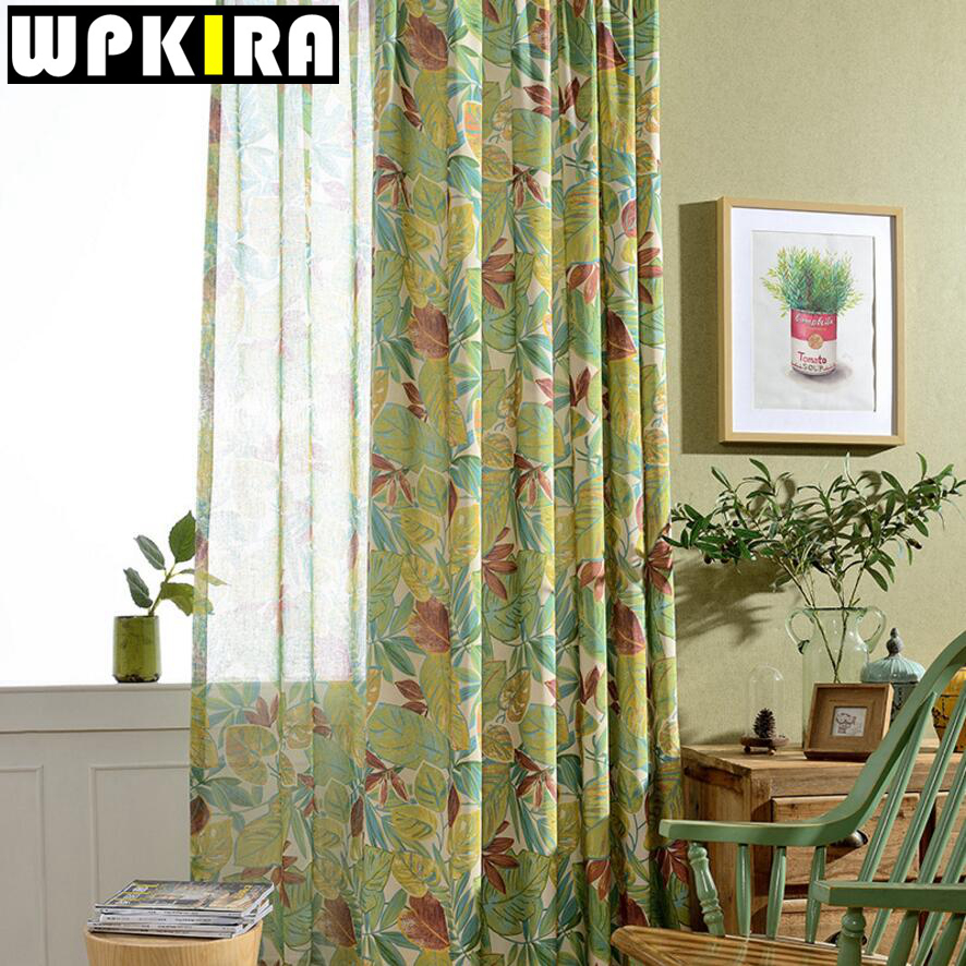 Window Curtain Living Room Modern Home Goods Treatments Fraux Linen Printed 3d Curtains For Bedroom
