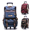Klassen 4-9 wasserdicht Abnehmbare Kinder Schule Taschen Mit 2/6 Räder Treppen Kinder Trolley Schul Buch Taschen jungen mädchen rucksack