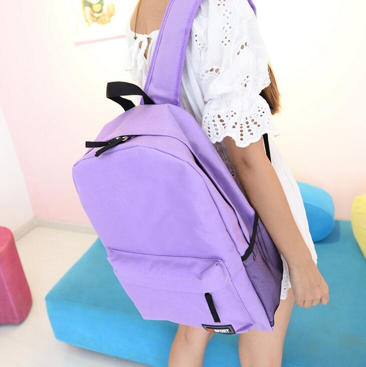 Moda mujer mochila 2017 calidad mujeres de la lona mochila adolescente  escuela simplicidad bolsa de viaje de gran capacidad 7423a9ad2ce82