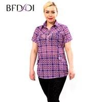 Fashion Women S Plaid T Shirts Quality Ladies Casual Brand 2015 Summer Top Big Size Xxxl