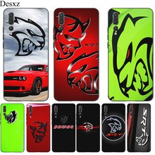 Mobile Phone Case Silicone For Huawei P30 P20 P10 P9 P8 Lite P Smart Casing Car Dodge Hellcat Logo New Cover Shell(China)