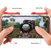 2 ADET Mobil Oyun Denetleyicisi Oyun Tetik Yangın Düğmesi L1R1 Tetik Amacı Düğmesi Shooter Joystick PUBG Telefon Oyun