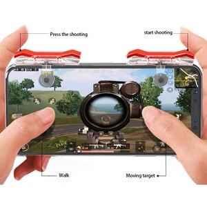 Image 1 - 2 шт., контроллер для мобильных игр, игровой триггер, кнопка запуска L1R1, кнопка запуска, джойстик для шутеров, для PUBG Phone Gaming