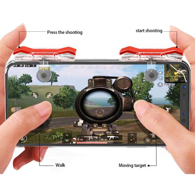 2 шт., контроллер для мобильных игр, игровой триггер, кнопка запуска L1R1, кнопка запуска, джойстик для шутеров, для PUBG Phone Gaming