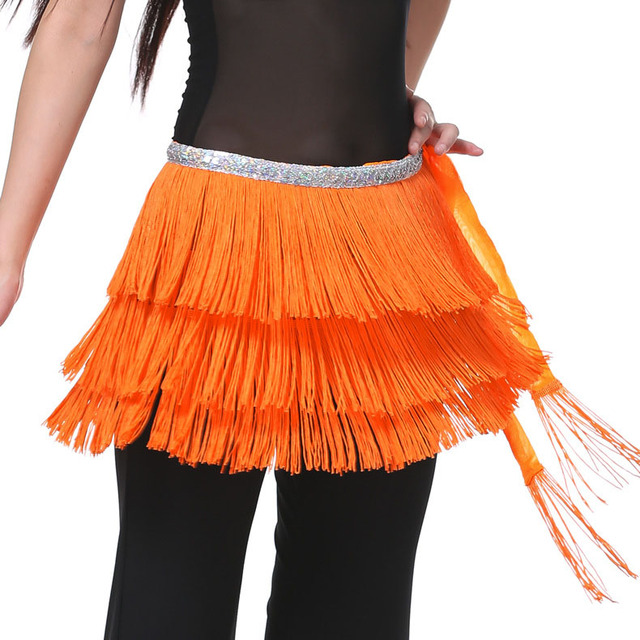Details about  /3 Layers Tassels Hip Scarf Belt Chain Belly Dance Costumes Dancewear 12 colors