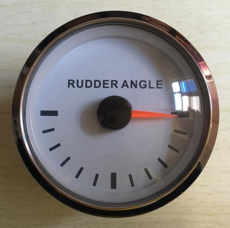 100% brand new 52mm rudder angle gauges rudder angle meters with sensor fit for boat white color kus marine accessories marine instrumentation rudder angle indicator rudder angle table rudder angle sensor 12v 24v