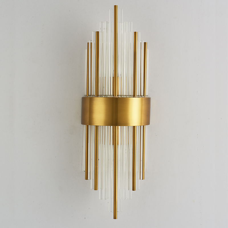 Modern Art H60cm 110v 220v led crystal decoration Brass stainless steel wall lamp light wall sconces bedroom bedside wall lampModern Art H60cm 110v 220v led crystal decoration Brass stainless steel wall lamp light wall sconces bedroom bedside wall lamp