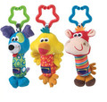 Baby Toys Rattle My First Tinkle Trio Hand Bell Multifunctional Plush Toy Stroller Mobile Gifts