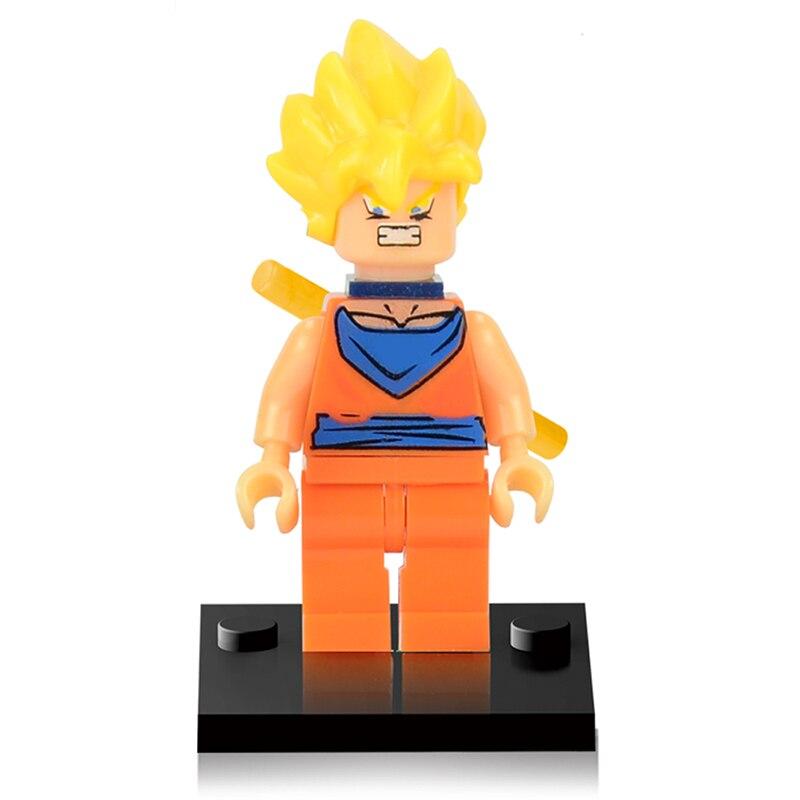 Single Sale Building Blocks Dragon Ball Z Figures Goku Vegeta Perfect Cell Majin Buu Gohan Bulma Bardock Bricks Kids Toys marvel