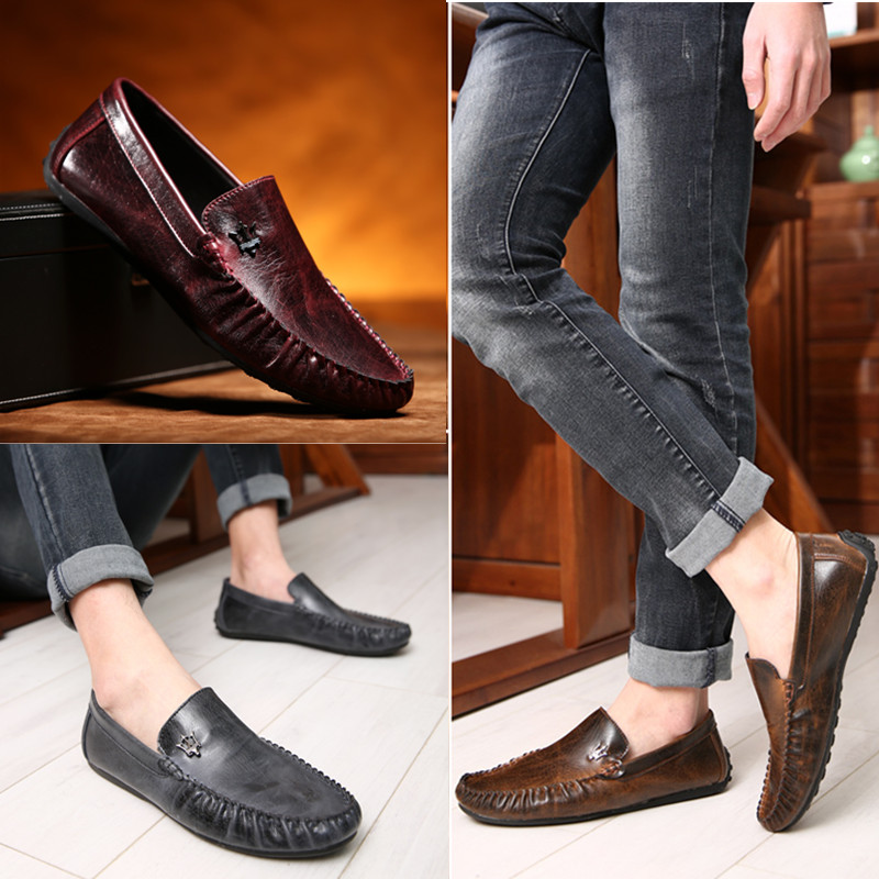 free shipping view Genuine Leather Shoes men Flat Shoes Casual male Loafers Flats Fashion Man Driving Shoes high quality online cost for sale outlet Manchester UXZ3NEZjb