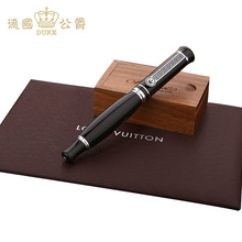 Germany DUKE Pure Black Silver Clip Iraurita Heavy Arrogance Ink pen Free Of Charge Lettering Postal Exquisite gift Package