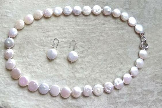 New Arriver Pearl Jewellery Set White Color Real