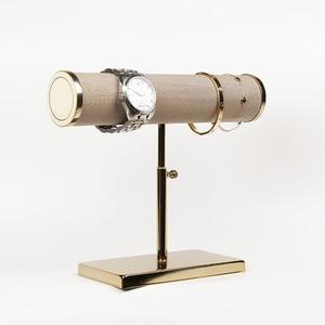 Image 1 - Nieuwe Sieraden en horloge display props met Gouden Ondersteuning De armbanden Of waaks Display Rack Display van Armband En horloge venster