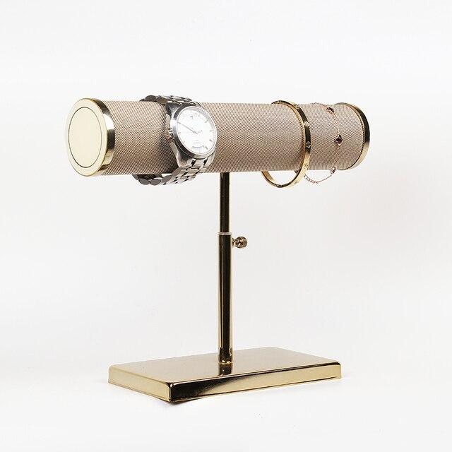 חדש תכשיטי ולצפות תצוגת אבזרי עם זהב תמיכה את צמידי או watchs תצוגת מדף תצוגה של צמיד ולצפות חלון
