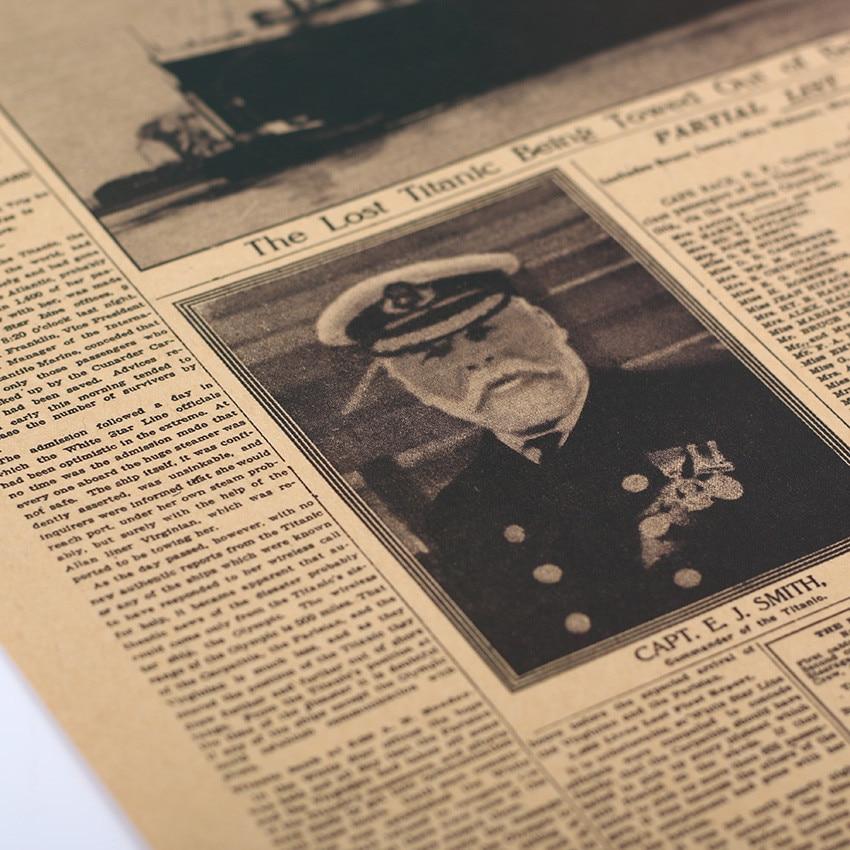 geekoplanet.com - The New York Times Titanic Shipwreck Old Newspaper Kraft Paper Poster