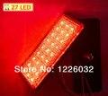 Blanco Lente Rectángulo Rojo Luz de Freno señal de vuelta de la luz Universal de La Motocicleta ATV Scooter Reflector