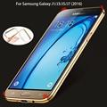 Chapeamento de ouro de cristal de luxo silicone case para samsung galaxy j1 j3 J5 J7 2017 2016 Macio TPU Tampa J510F J710F J320F Volta case
