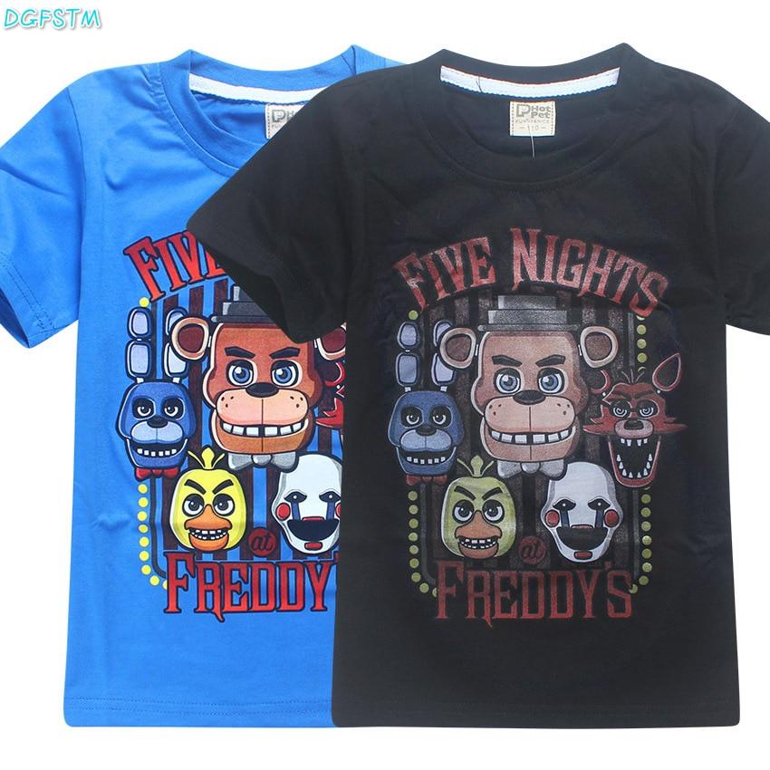 2017 Cinque Notti A Freddy Bambini T Shirt Fnaf Bambini Ragazzo Abbigliamento Manica Corta Vestiti Di Estate Del Bambino Boy T-shirt Bambini Poli Robocar