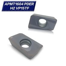 50PCS APMT1604 PDER H2 VP15TF Carbide Insert Lathe Milling Mill cnc tools milling cutter