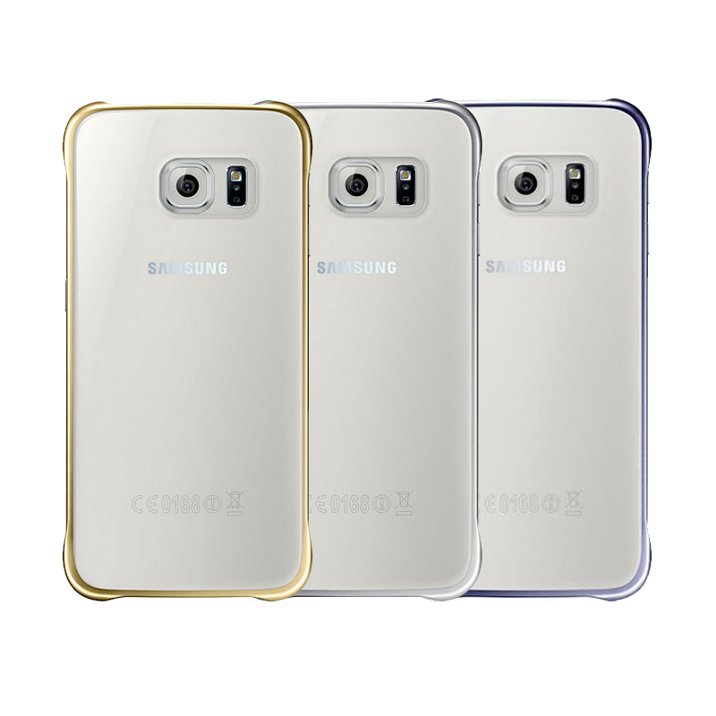 <font><b>Gold</b></font> Clear Back Cover <font><b>Case</b></font> For Samsung Galaxy S6 EF-QG920BFEG G9200 5.1 inch Transparent Mobile <font><b>Phone</b></font> Fitted Back <font><b>Cases</b></font>