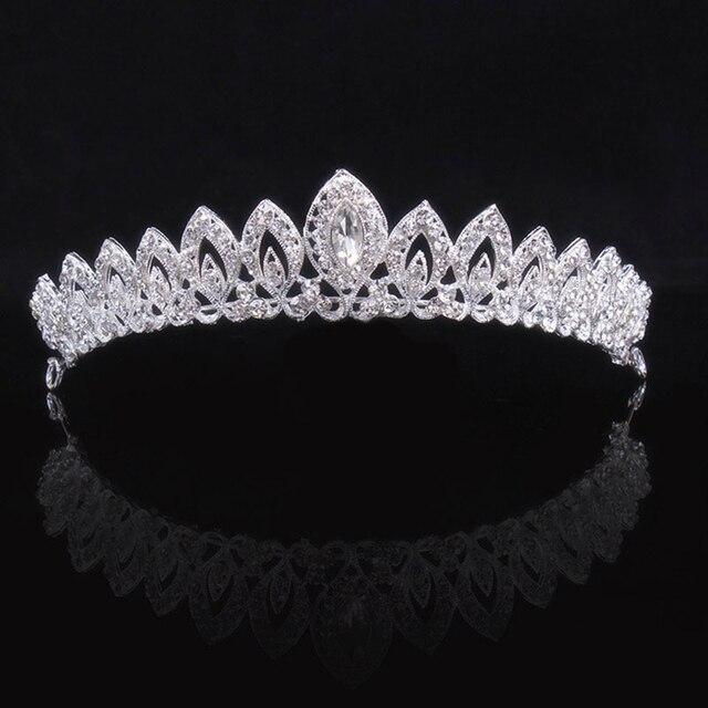 Women's wedding dinner bride crown headdress hair ornaments Jewelry headband flo