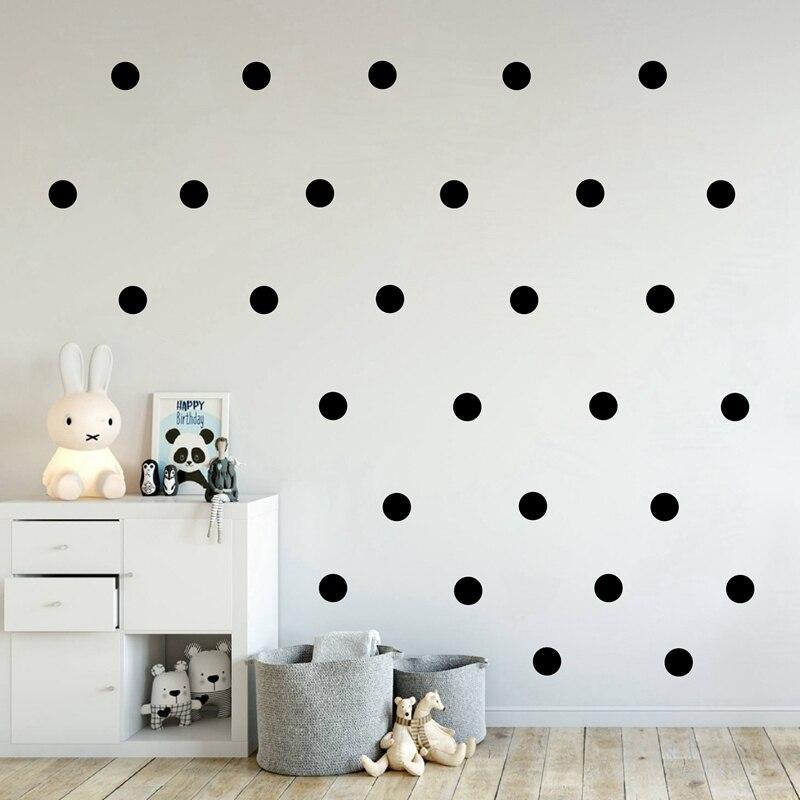 Hot Sale Polka Dots Creative Home Decor Cartoon Wall Art DIY Black ...