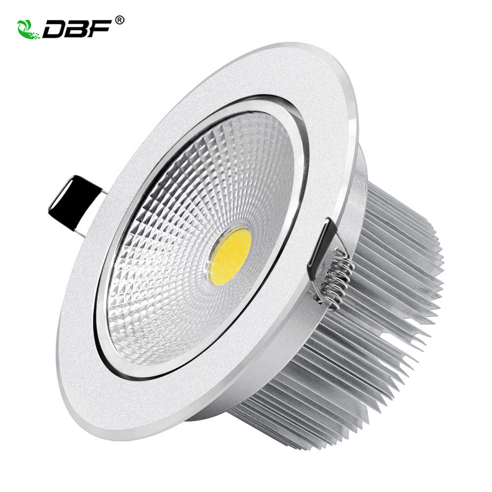 [DBF]Angle Adjustable Silver Body Dimmable LED Langit-langit Tersembunyi Downlight 7W 9W 12W 15W 18W Dengan AC85-265V Driver LED Lampu Spot